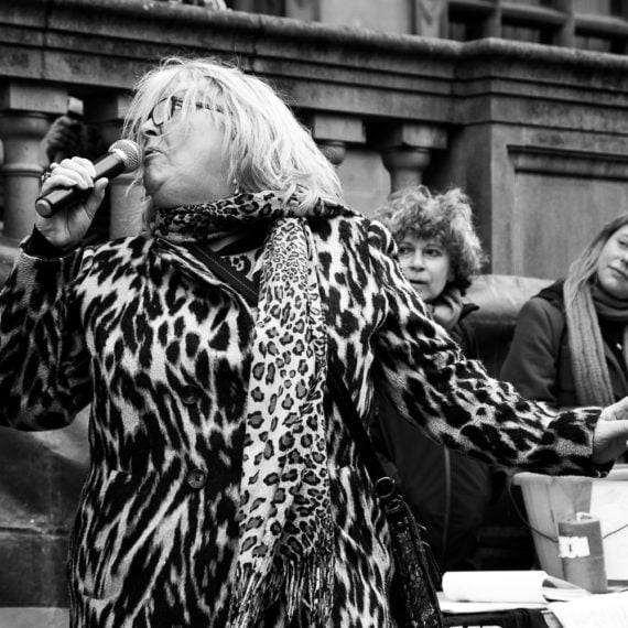 Street photography Sheffield Town Hall Protest